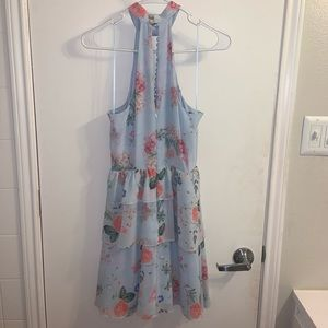 Express Dresses - Floral express Halter Dress